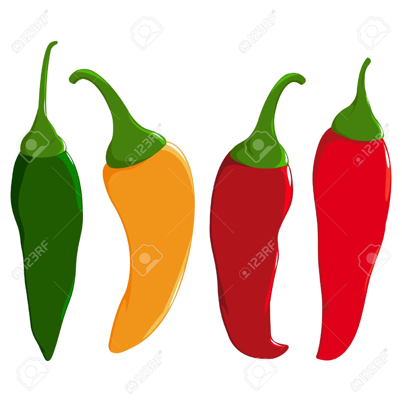 Hot peppers clipart clip black and white Hot peppers clipart 4 » Clipart Station clip black and white