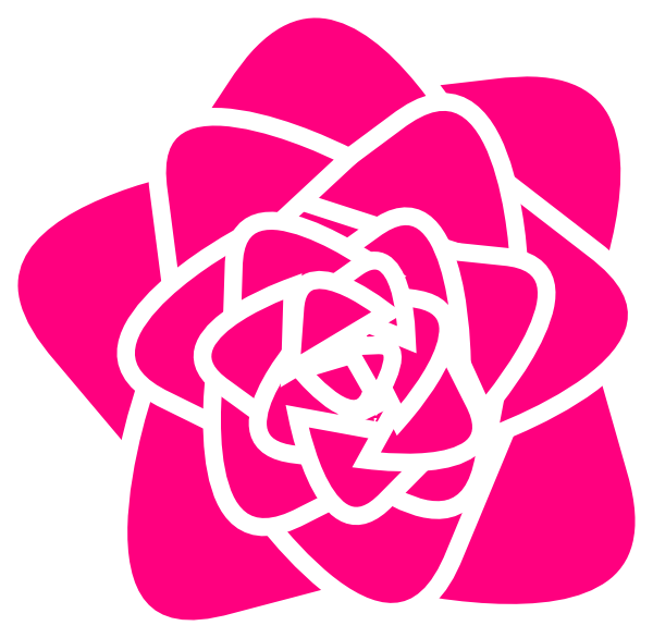 Hot pink clipart image royalty free library Hot Pink Rose Clip Art at Clker.com - vector clip art online ... image royalty free library