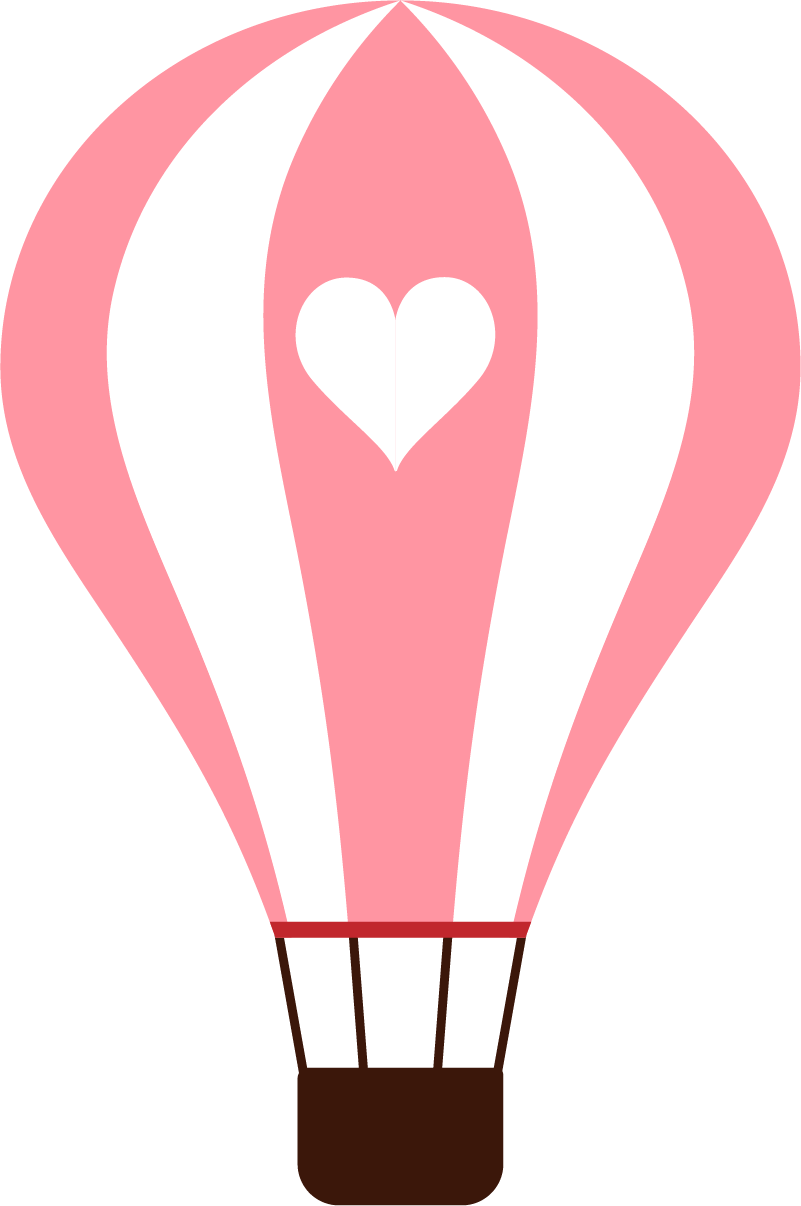 Hot pink heart clipart picture black and white library Hot air balloon Cartoon Clip art - Pink balloon design 801*1206 ... picture black and white library