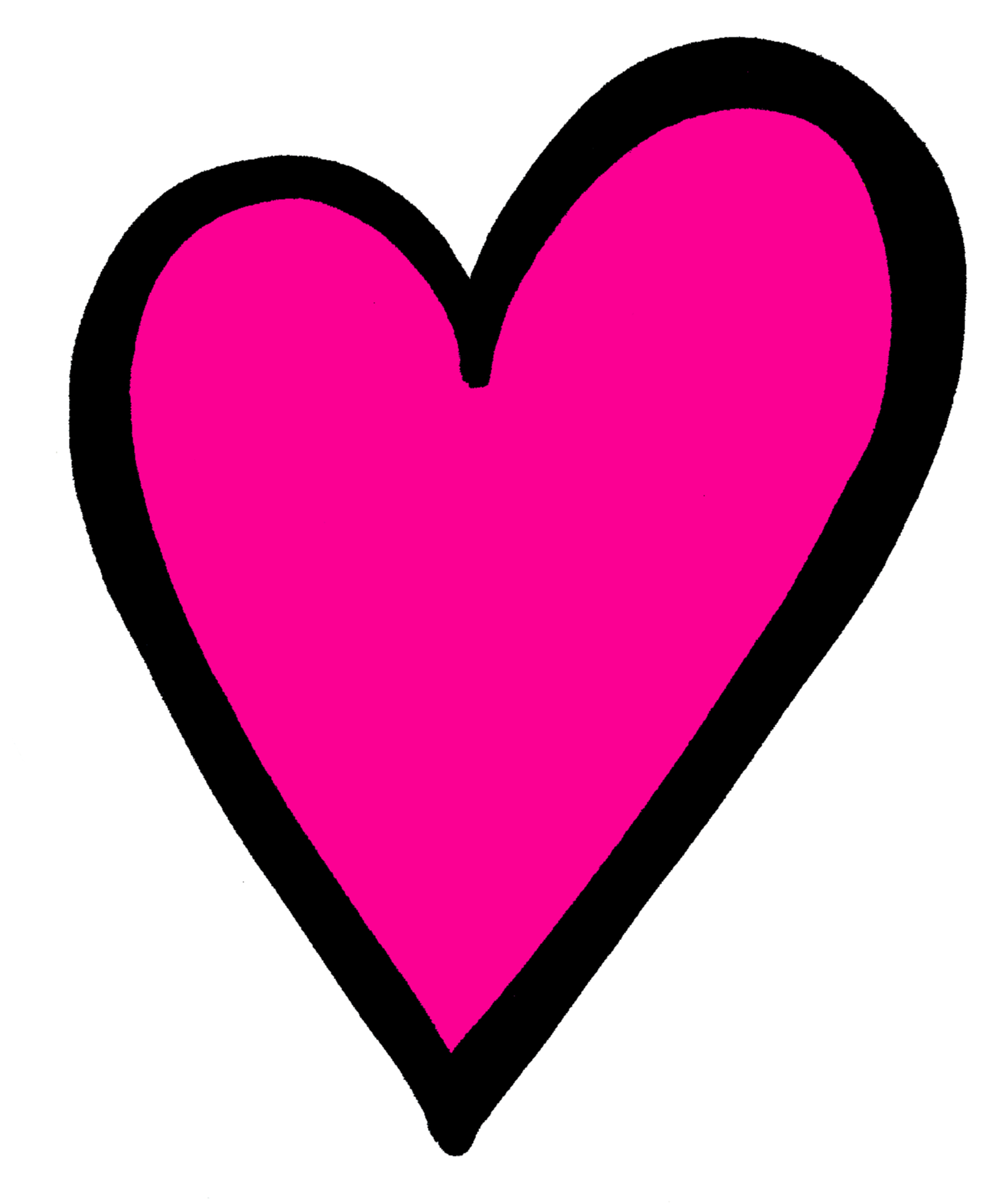 Hot pink heart clipart clip black and white stock Pin by Lori Bechtel on Creative Clips Clipart | Pinterest | Hot pink ... clip black and white stock