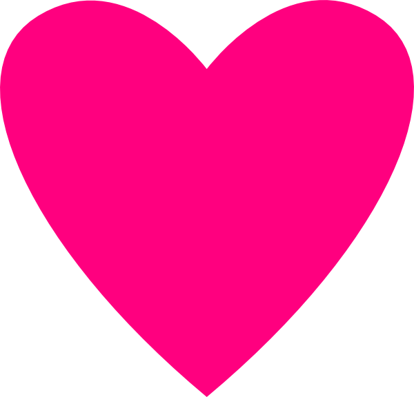 Hot pink heart clipart vector royalty free download Hot Pink Heart Clip Art at Clker.com - vector clip art online ... vector royalty free download