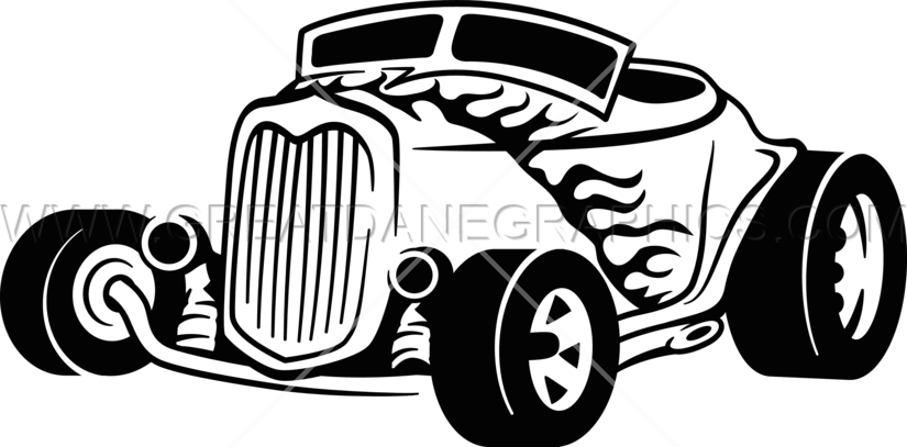 Hot rod car clipart svg library download Hotrod | Production Ready Artwork for T-Shirt Printing svg library download