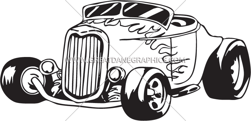 Hot rod car clipart clip black and white library Hotrod | Production Ready Artwork for T-Shirt Printing clip black and white library