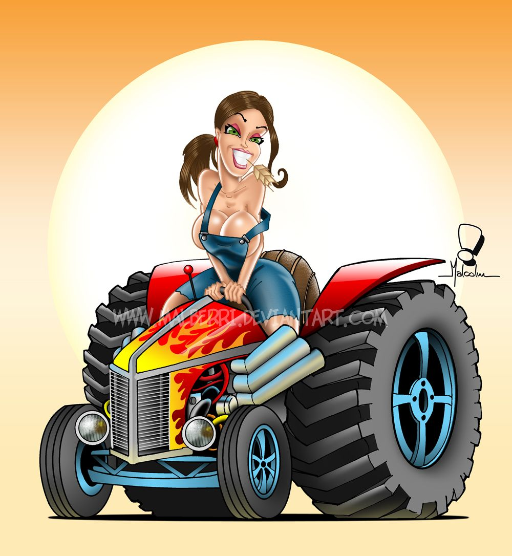 Hot rod pin up girl clipart free clipart download Hot Rod Pin Up Art | Hot Rod Tractor Pinup by malberri ... clipart download