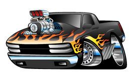 Hot rod with flames clipart banner black and white library American Muscle Cars with Flames | Cartoon Hot Rod Stock ... banner black and white library