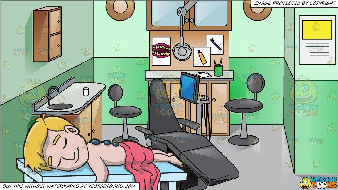 Hot stone massage clipart picture freeuse stock clipart #cartoon A Man Enjoying A Hot Stone Massage and ... picture freeuse stock