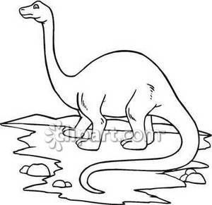 Hot summer dinosaur clipart black and white png library Black and White Apatosaurus - Royalty Free Clipart Picture png library