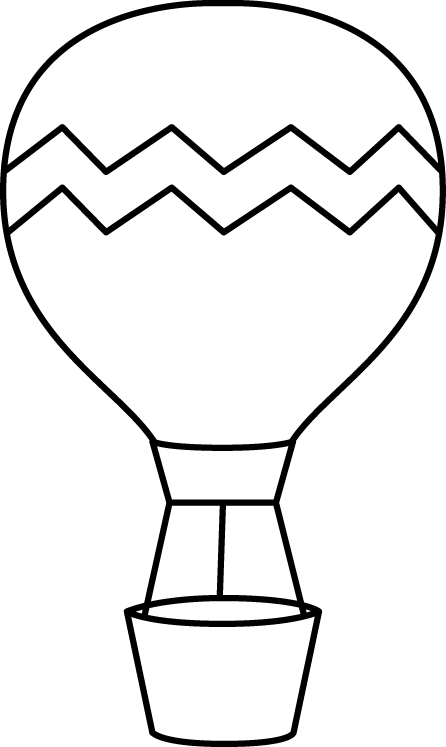 Hot sun clipart black and white stock Black and White Striped Hot Air Balloon | Printables | Pinterest ... stock