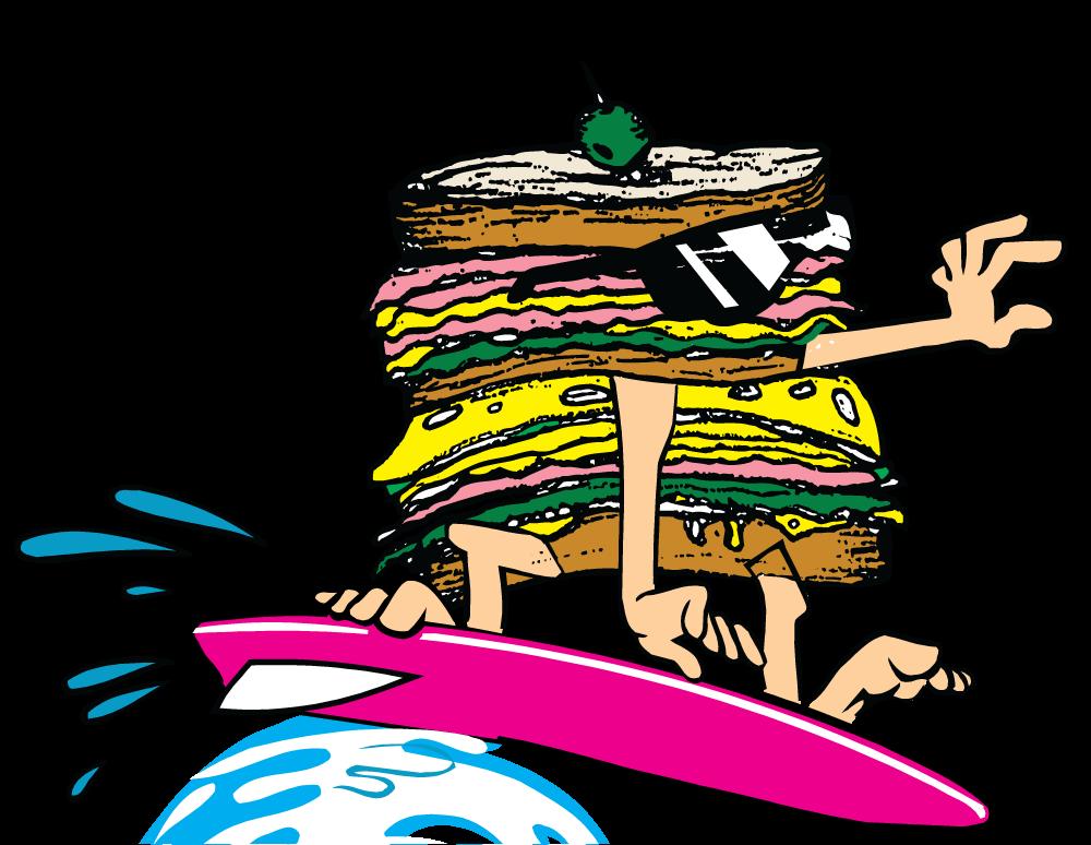 Hot turkey sandwich clipart vector Anna's Deli Menus vector
