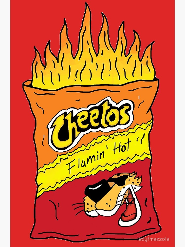 Hotcheetos clipart svg black and white library Flamin\' Hot Cheetos | Greeting Card svg black and white library