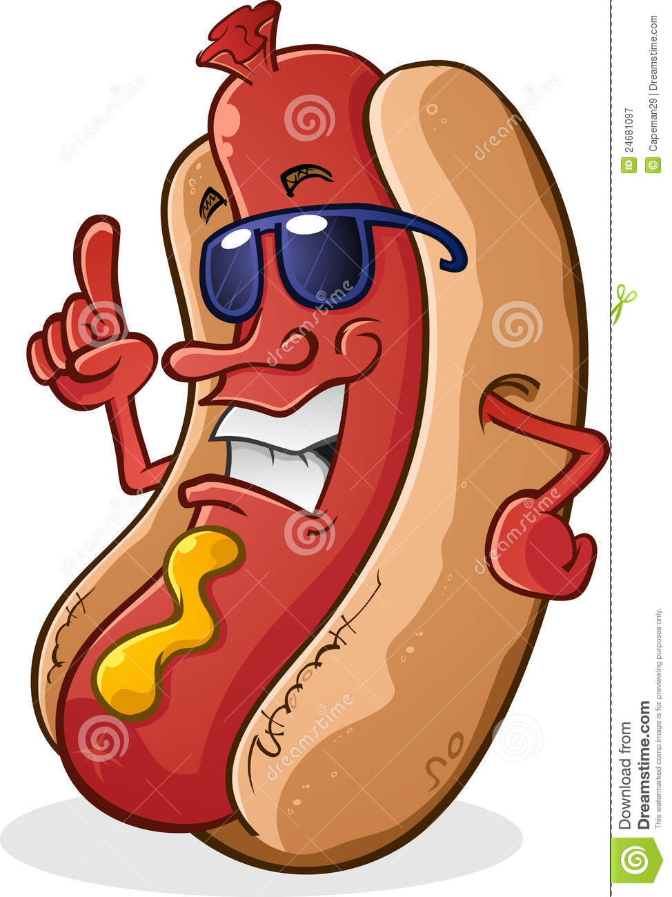 Hotdog clipart super dog transparent library Hot Dog Character With Attitude Royalty Free Stock Photography ... transparent library