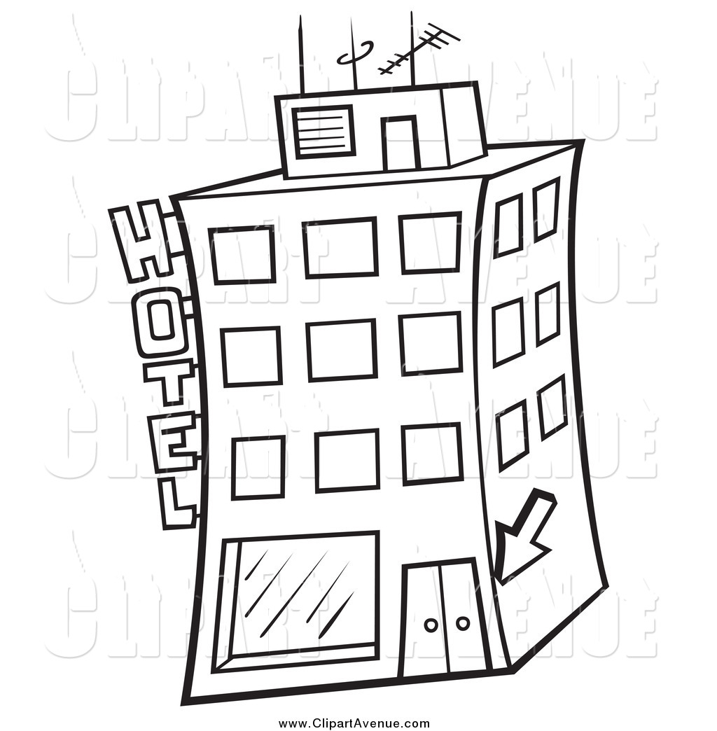 Hotel clipart black and white image black and white download Hotel clipart black and white 3 » Clipart Station image black and white download