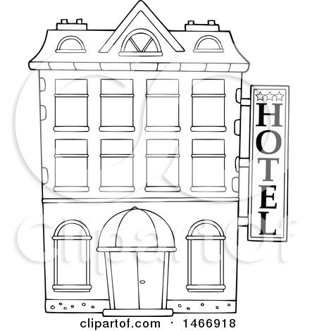 Hotel clipart black and white picture transparent Hotel building clipart black and white 6 » Clipart Portal picture transparent
