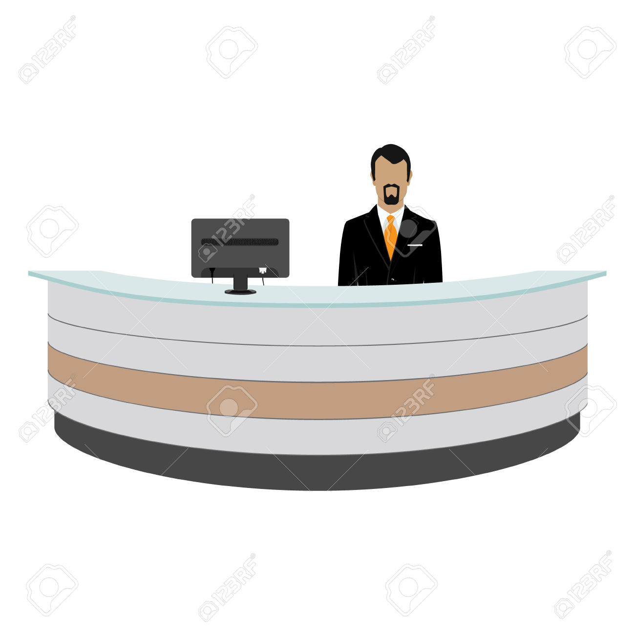 Hotel reception clipart graphic free stock Hotel reception desk » Clipart Station graphic free stock