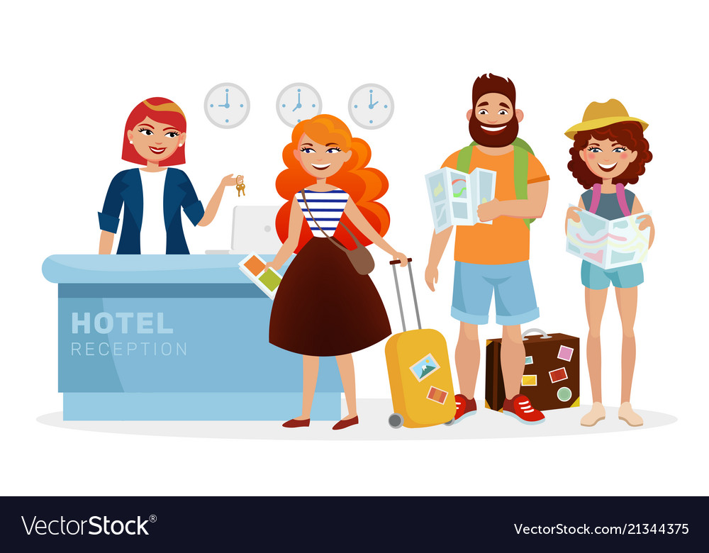 Hotel reception clipart svg royalty free library Check-in hotel reception desk modern svg royalty free library