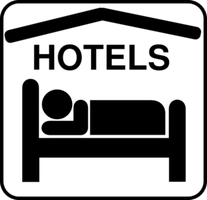 Hotel vector clipart image royalty free stock Hotel Sleeping Accomodation Clip Art - Black/white Clip Art ... image royalty free stock