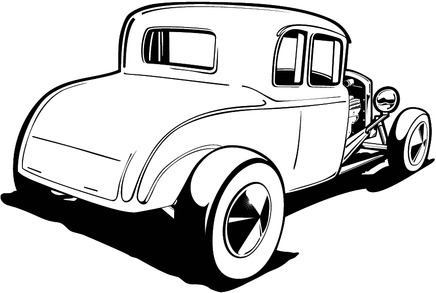 Hotrod clipart banner black and white library Free Hot Rod Clipart, Download Free Clip Art, Free Clip Art ... banner black and white library