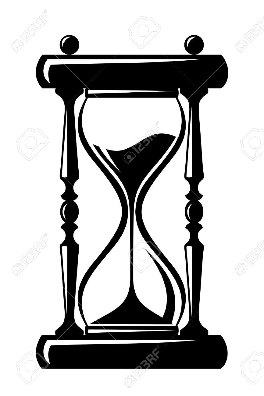 Hourglass clipart black and white svg royalty free library Hourglass clipart black and white 2 » Clipart Portal svg royalty free library