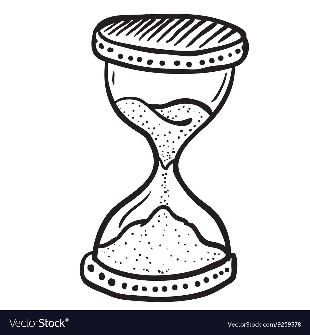 Hourglass clipart black and white clip art Black and white hourglass clip art