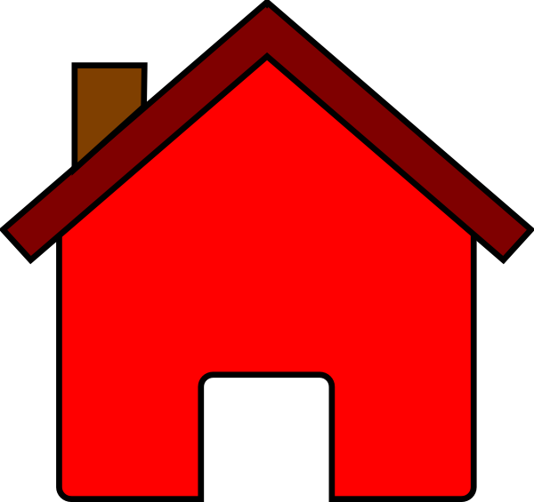 House address clipart freeuse library Red clipart house freeuse library