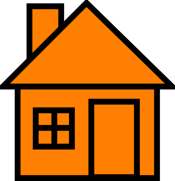 Part of the house clipart vector free Home Clipart orange - Free Clipart on Dumielauxepices.net vector free