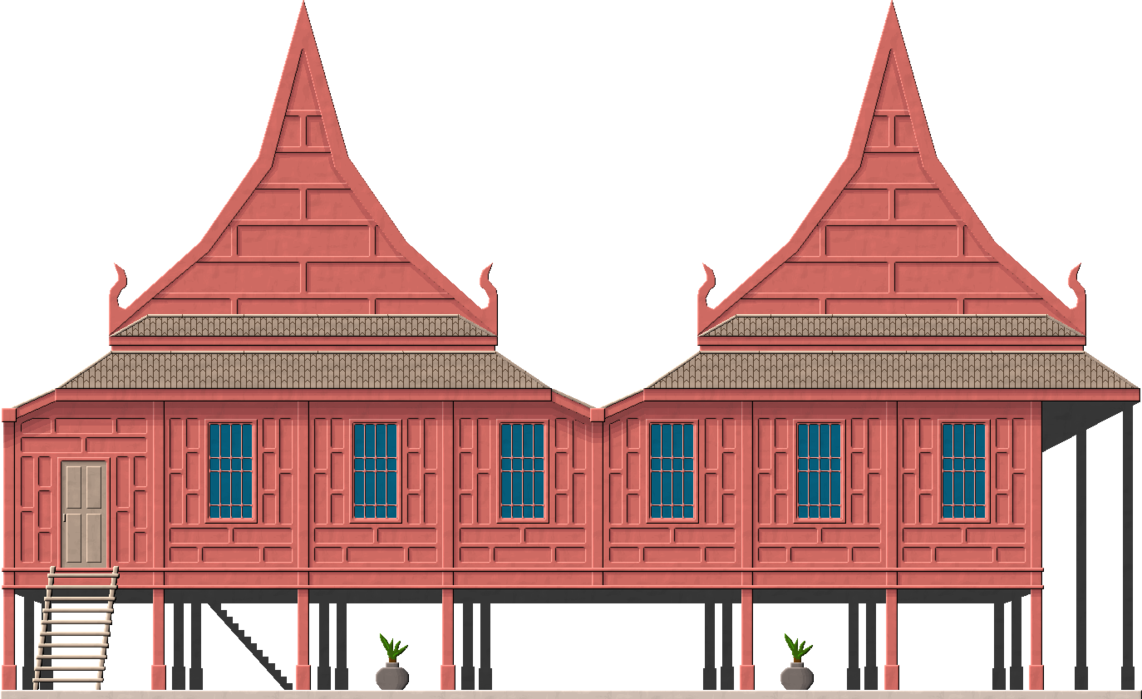House architectural styles clipart png transparent Thai Traditional House by Herbertrocha on DeviantArt png transparent