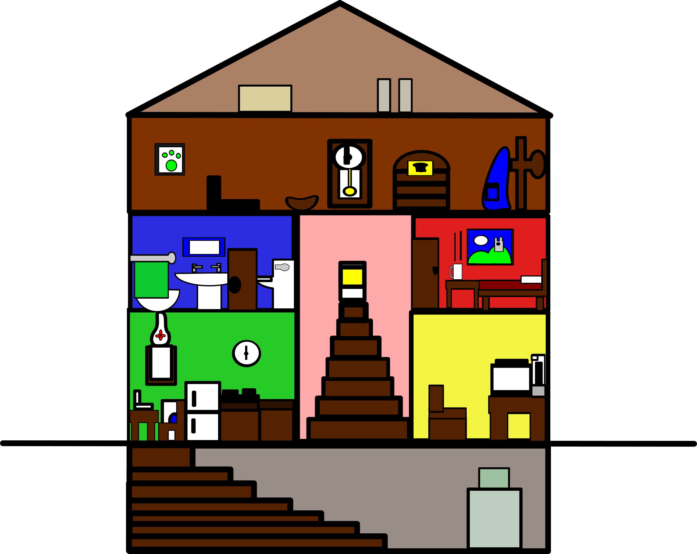 Clipart - Basic House graphic freeuse