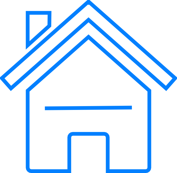 House blue clipart vector black and white Blue House Clip Art at Clker.com - vector clip art online, royalty ... vector black and white