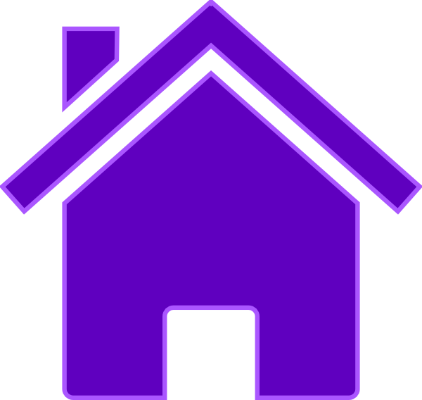House blue clipart jpg black and white download Purple House Clip Art at Clker.com - vector clip art online, royalty ... jpg black and white download