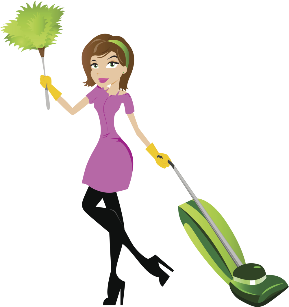 House cleaning services clipart black and white download Huggins Cleaning Service LLC black and white download