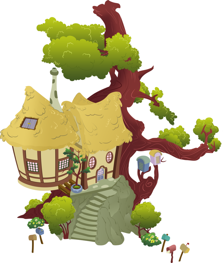 Tree on house clipart clipart library download 1191094 - absurd res, artist:moongazeponies, building, derpy hooves ... clipart library download
