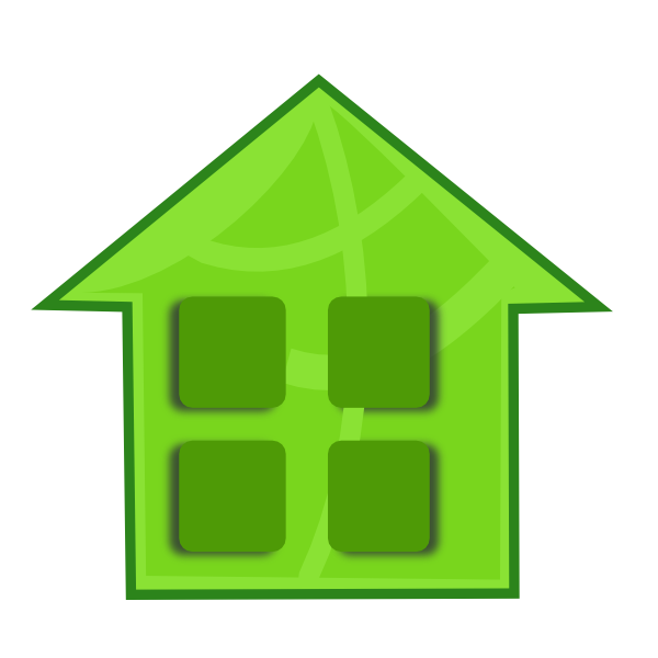 Square house clipart image royalty free stock Green Home Clip Art at Clker.com - vector clip art online, royalty ... image royalty free stock