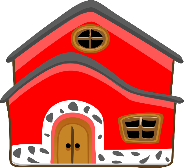 Red house clipart jpg black and white stock 28+ Collection of Pucca House Clipart | High quality, free cliparts ... jpg black and white stock