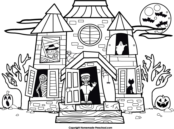 House clipart coloring sheet vector library White House Coloring Pages - Decimamas vector library