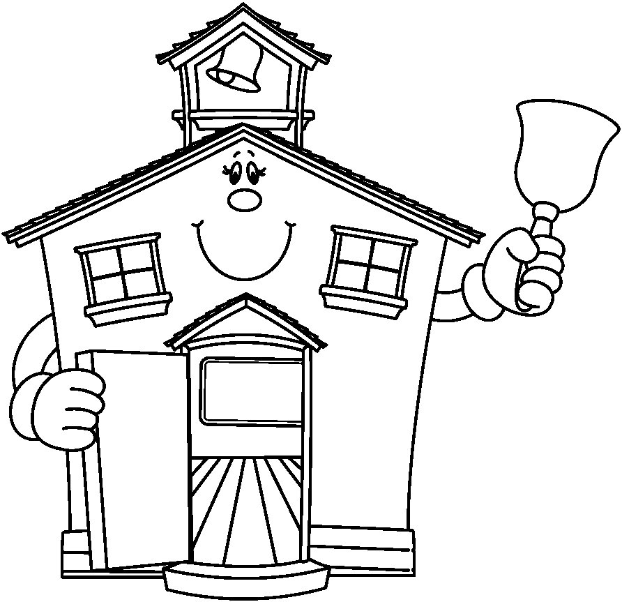 House clipart coloring sheet png freeuse stock School House Coloring Pages AZ Coloring Pages for School House ... png freeuse stock