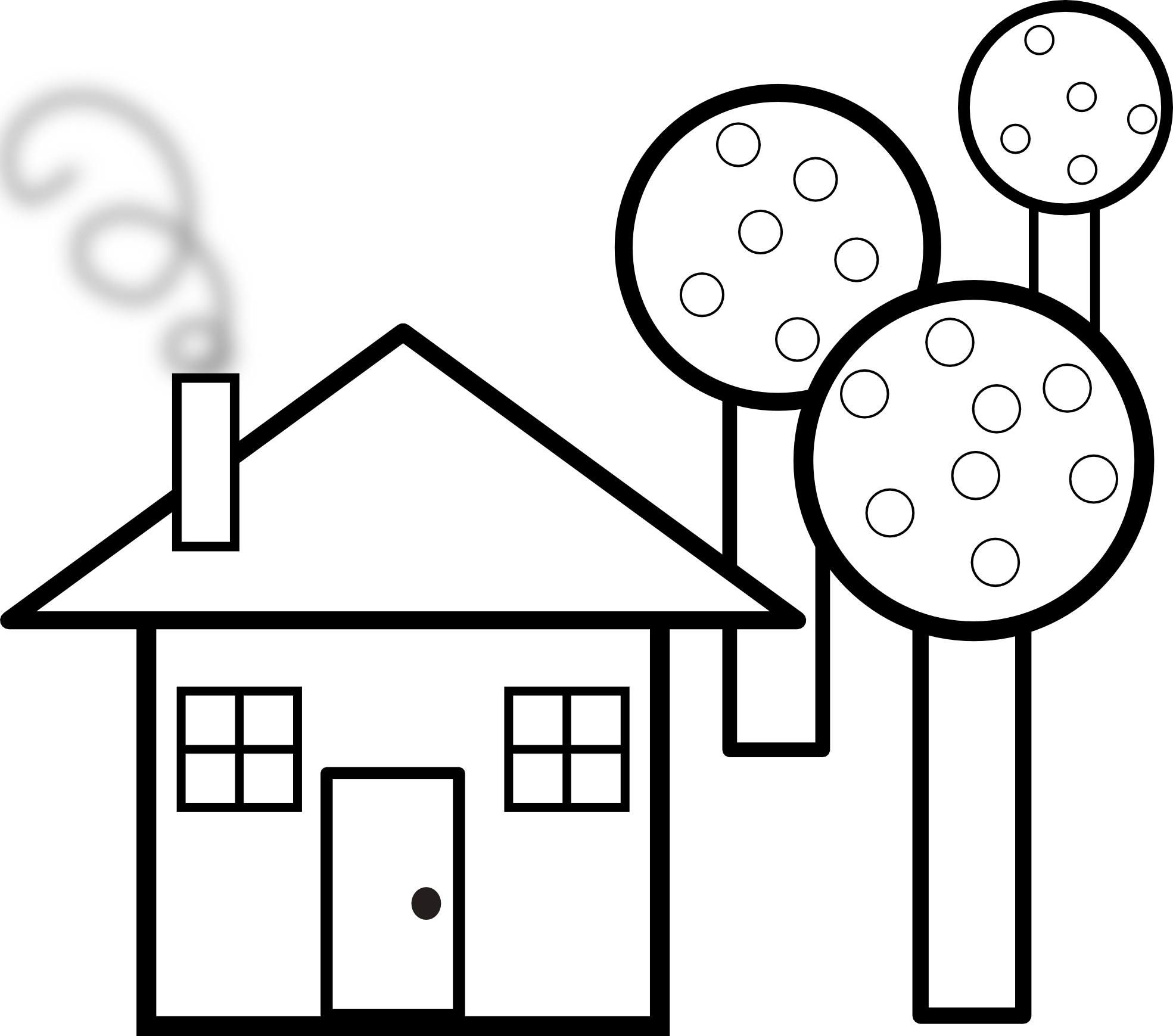 House clipart black and white outline download Haunted House Coloring Page | Clipart Panda - Free Clipart Images download