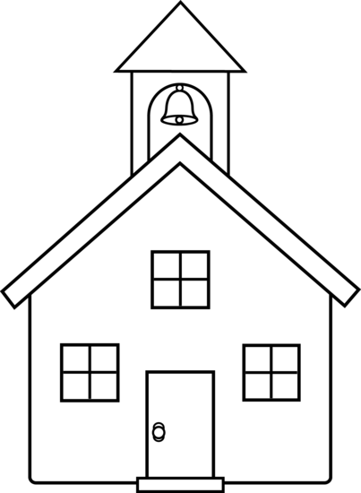 House clipart coloring sheet clipart school house coloring page cute schoolhouse coloring page free ... clipart