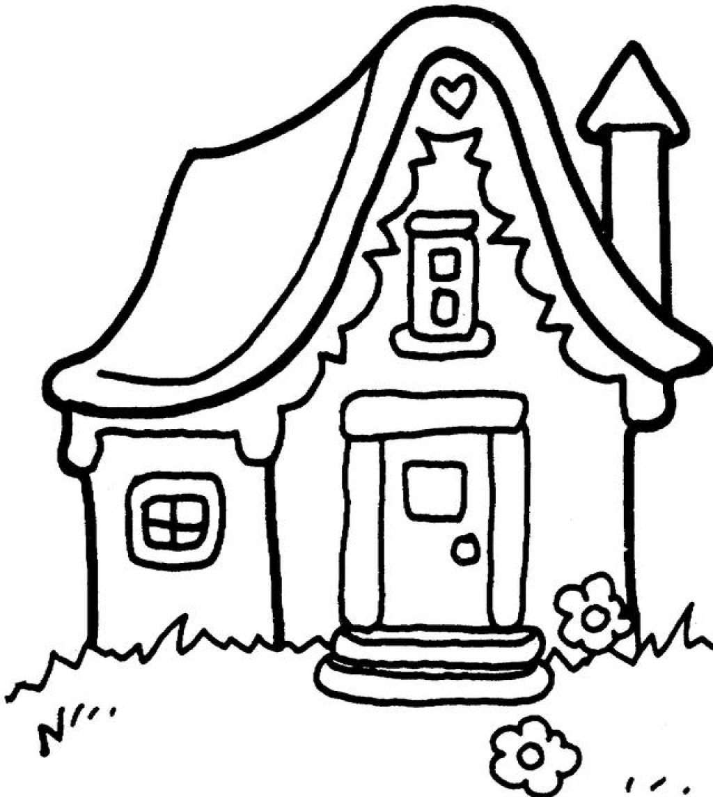 House clipart coloring sheet graphic royalty free download Free Printable Snowflake Coloring Pages For Kids graphic royalty free download