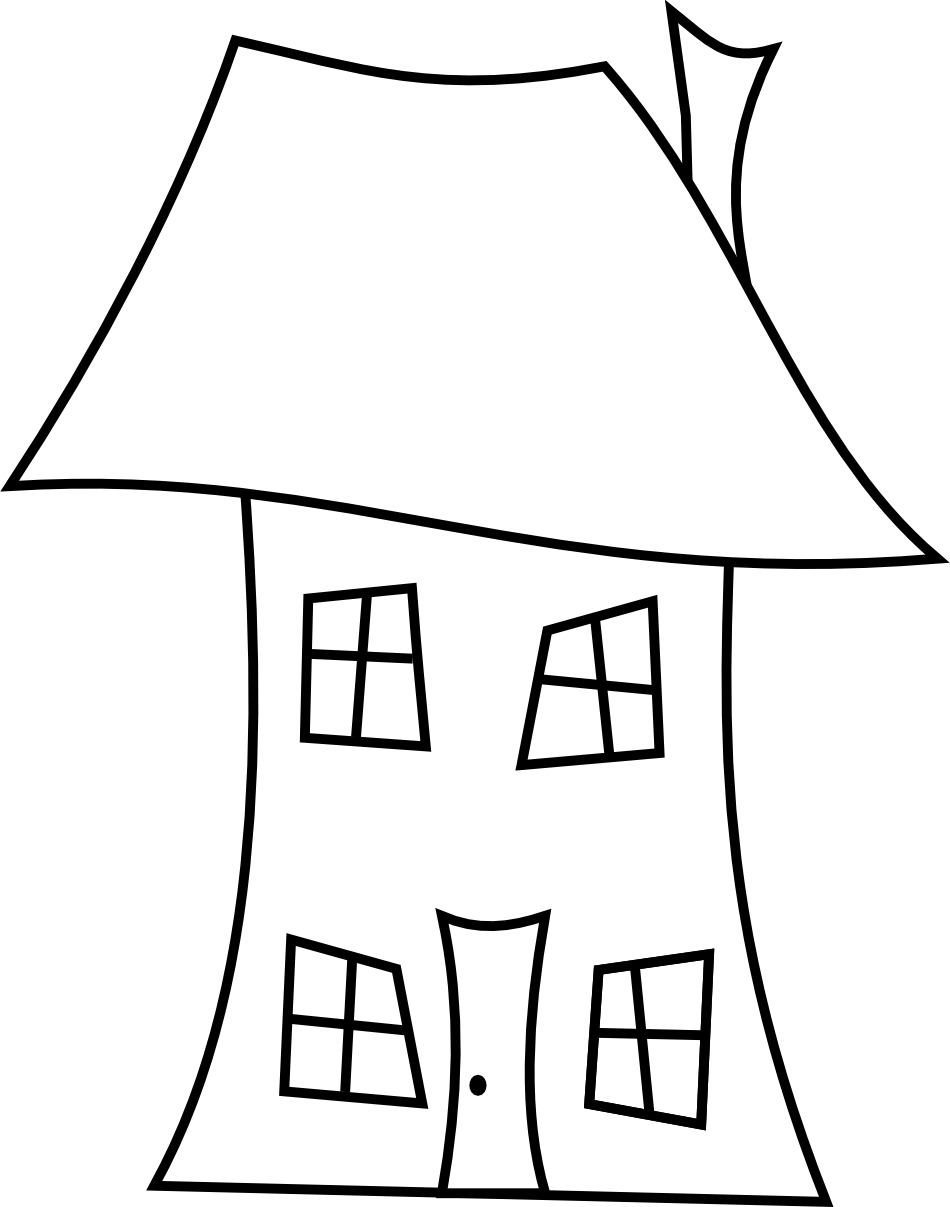 House sketch clipart vector freeuse download 28+ Collection of Crooked House Clipart | High quality, free ... vector freeuse download
