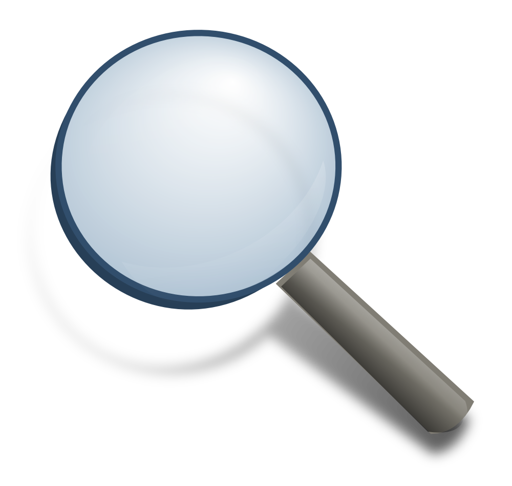House clipart free magnifying glass jpg library download OnlineLabels Clip Art - Magnifying Glass jpg library download