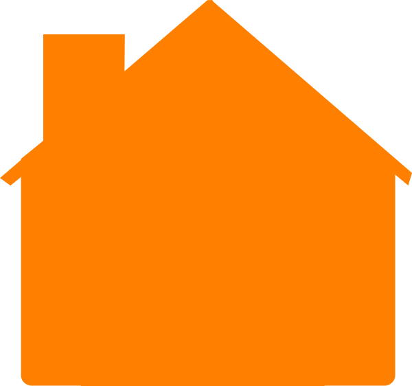 House clipart simple clip library download Simple Orange House Clip Art at Clker.com - vector clip art online ... clip library download