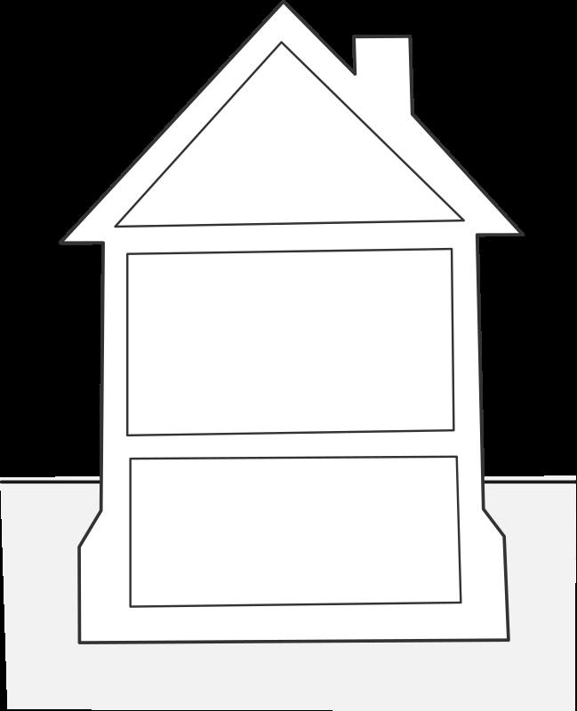 House clipart template freeuse Clipart - house elevation / élévation maison freeuse