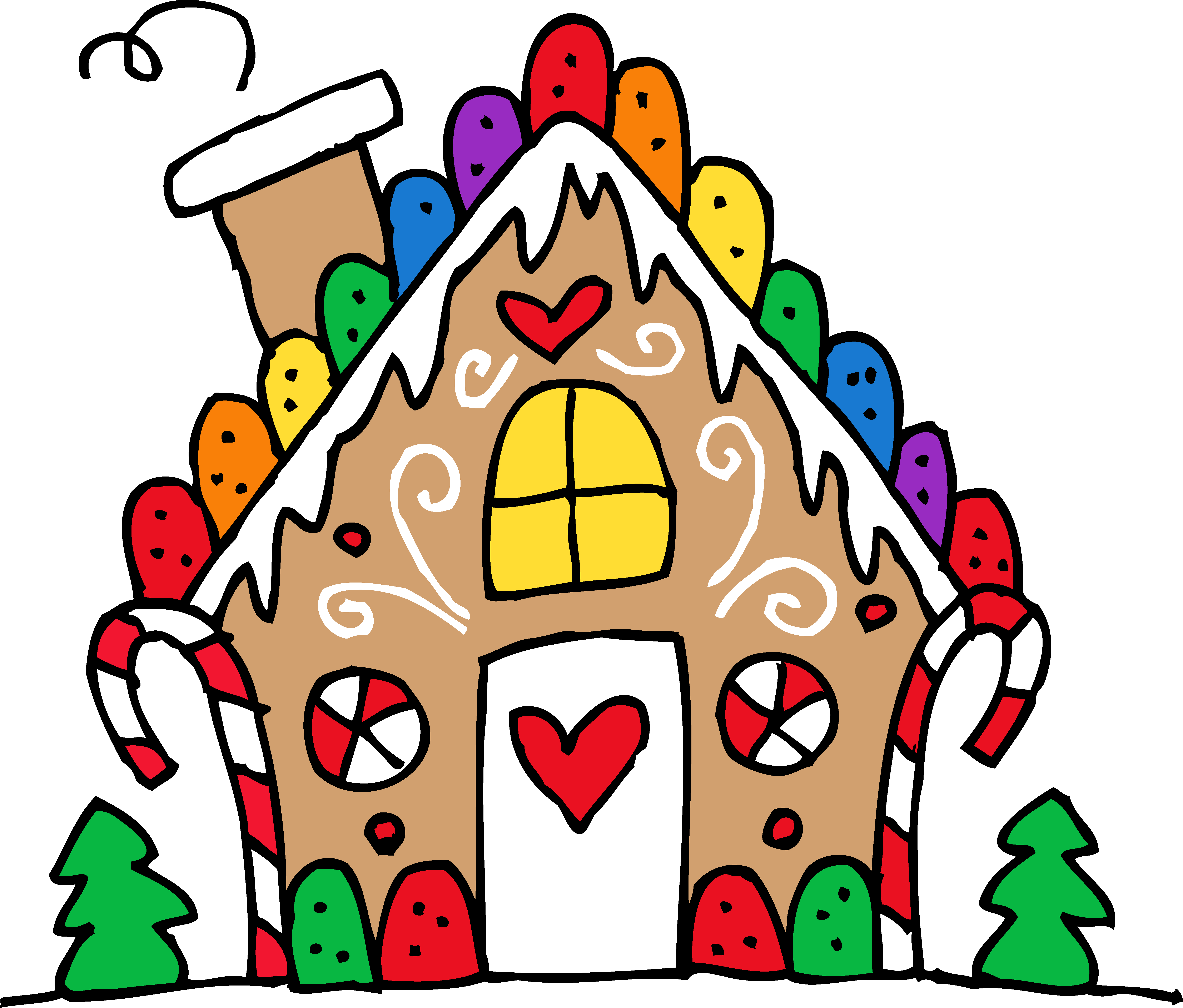 Gingerbread house clipart free clipart royalty free library House clipart transparent washed out - ClipartFest clipart royalty free library