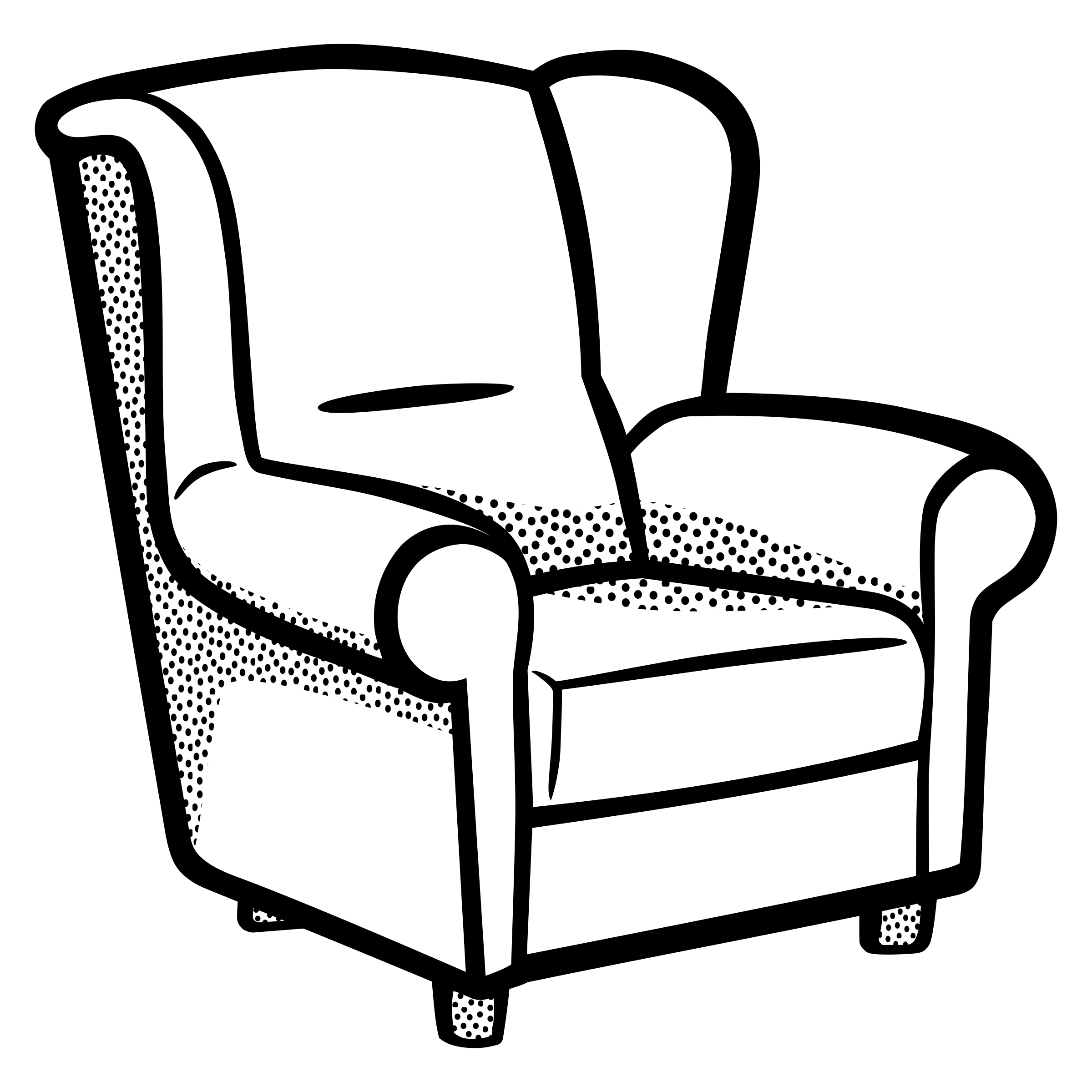 School chair clipart black and white free stock Armchair Clipart. Armchair Clipart - Deltasport.co free stock