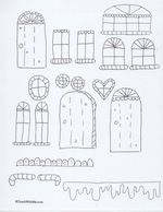 House craft printables windows and door clipart vector free Gingerbread house from brown paper bag, free printable | ~PALs ... vector free