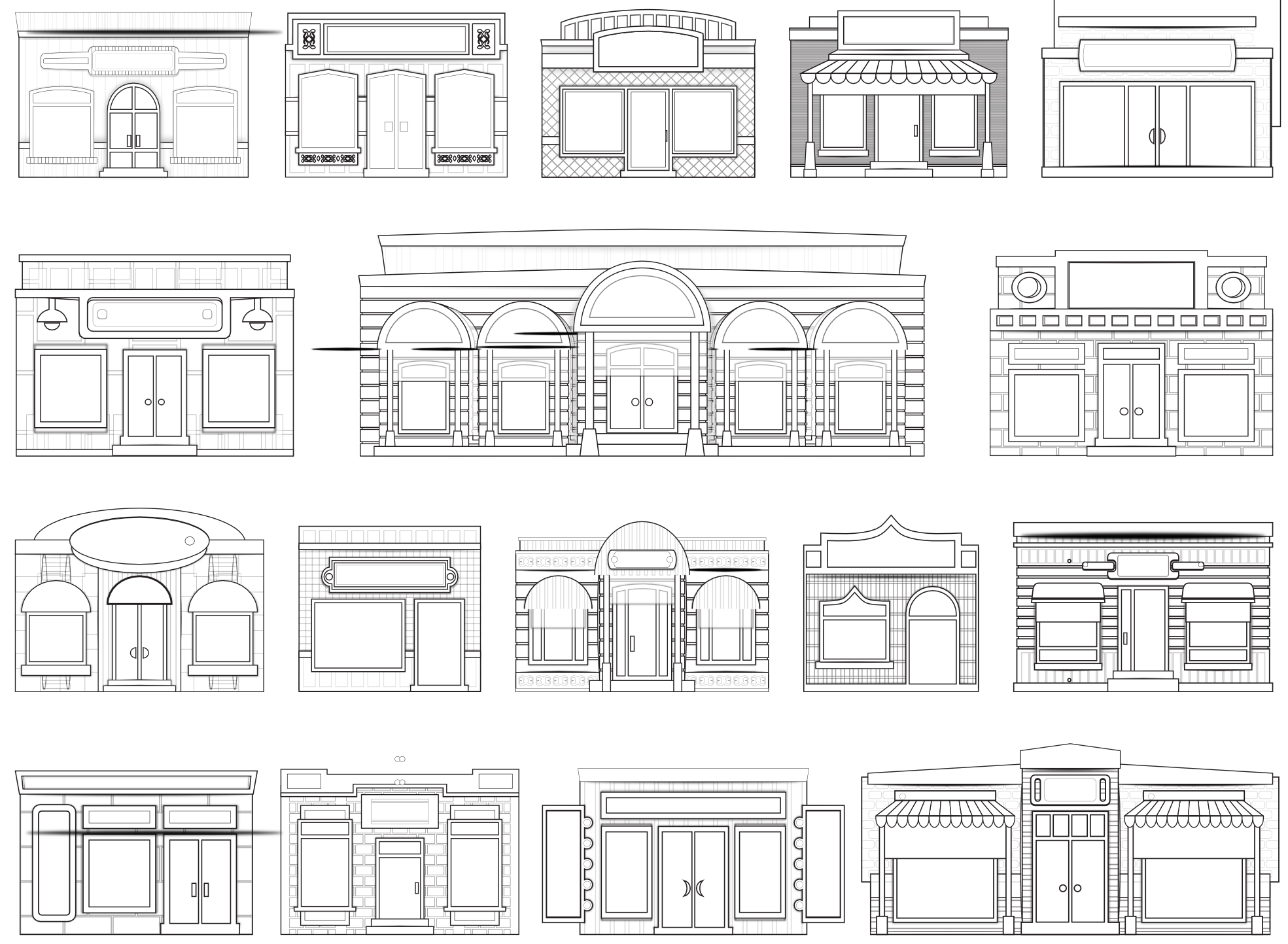House craft printables windows and door clipart clip free library House window clipart coloring sheet - ClipartFest clip free library
