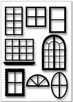 House craft printables windows and door clipart clipart free stock Window Templates: enlarge or reduce as needed | Designs, Patterns ... clipart free stock