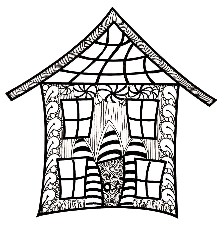 House doodle clipart clip transparent Zentangle Clipart (34+) clip transparent