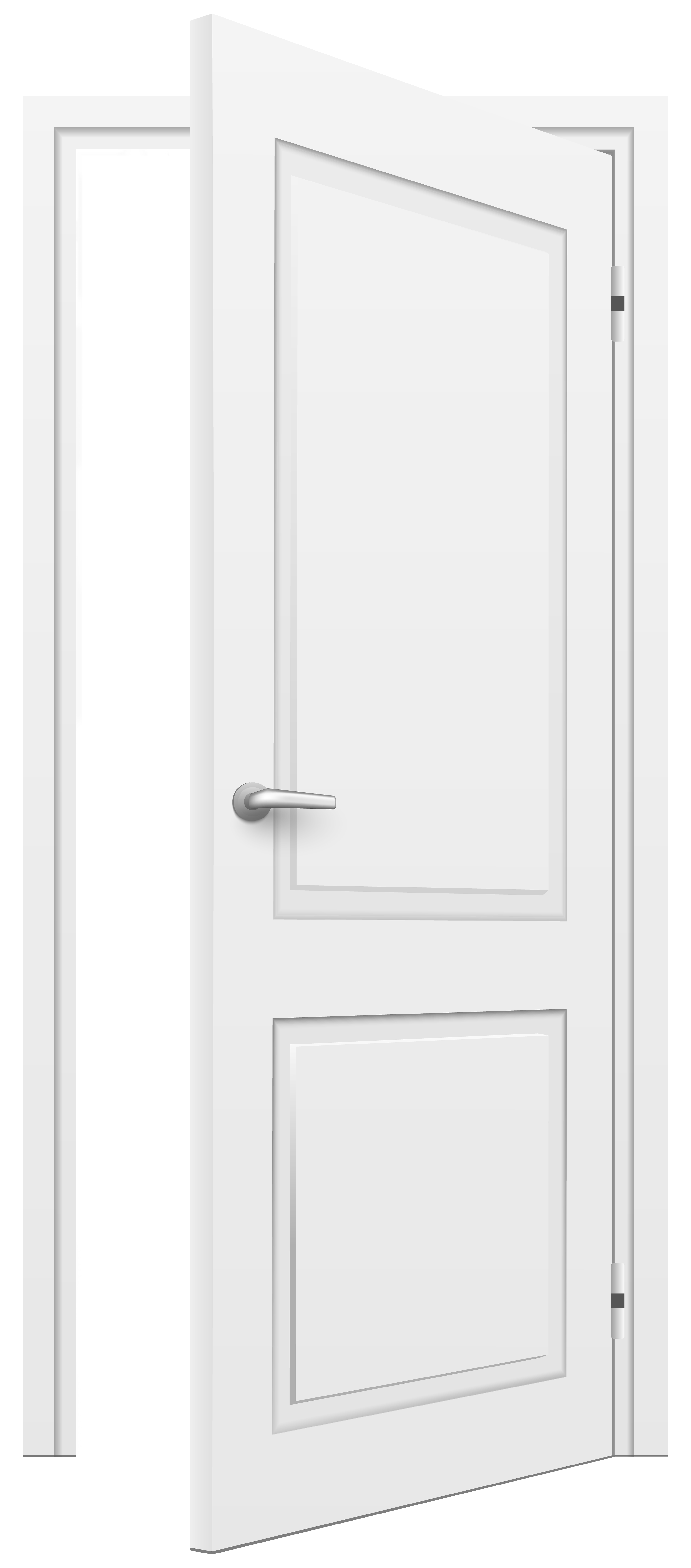 Open Door White PNG Clip Art - Best WEB Clipart image black and white