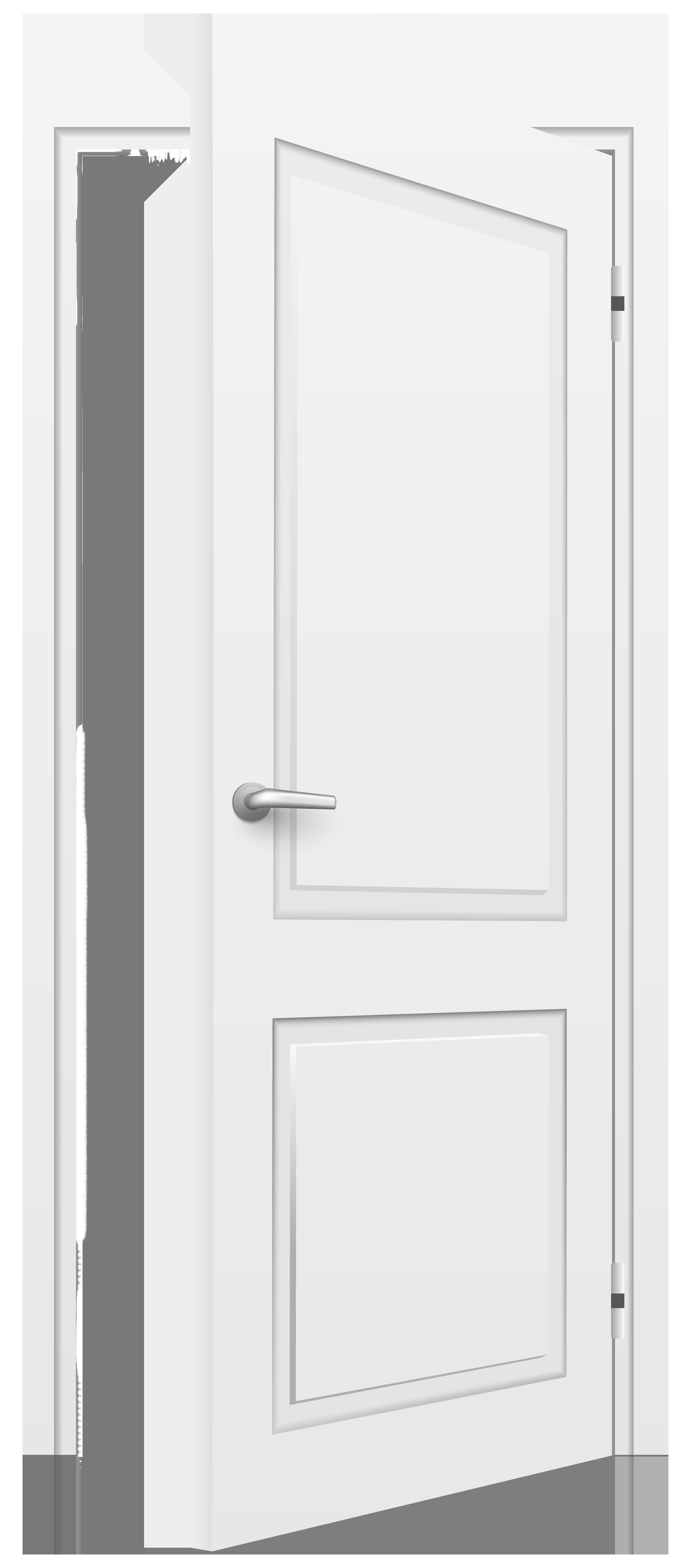 House door clipart clipart black and white download Open Door White PNG Clip Art - Best WEB Clipart clipart black and white download